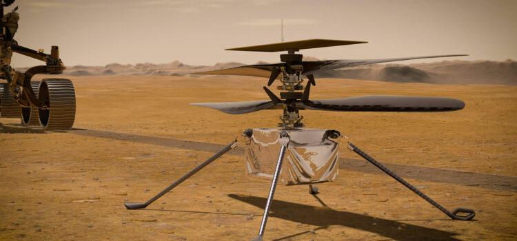 Mars Helicopter Ingenuity  – první létající stroj na jiné planetě než je Země